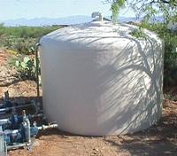 above ground fiberglass tank