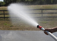 water wagon with fire hose