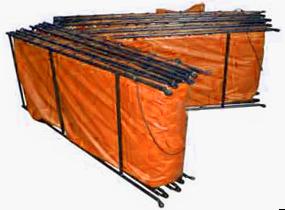 double folding frame tank