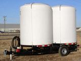 cone tank water trailer