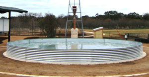 open top corrugated tank