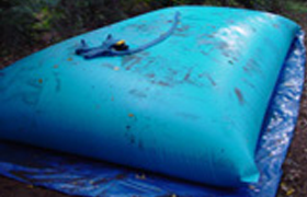 rainwater storage tanks in many sizes
