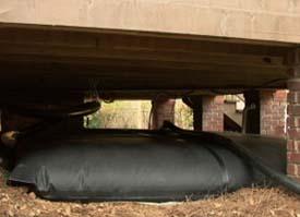 pillow tank under deck